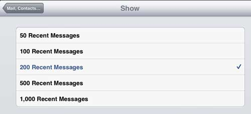 Choose the number of messages to display in your Inbox