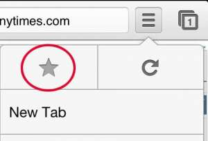 Tap the star button
