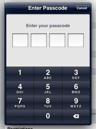Enter the old passcode