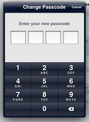 Enter your new passcode