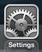 iPhone 5 Settings icon