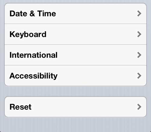 Open the iPhone 5 Accessibility menu