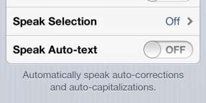 Disable the Speak Auto-text option