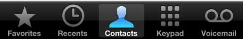 Select the Contacts option