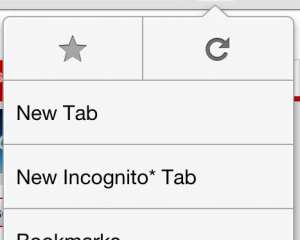 "Select the ""New Incognito Tab"" option"