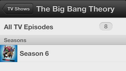 Choose the season containing the episode