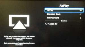 Toggle the AirPlay option on or off
