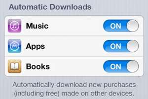 iphone 5 automatic downloads