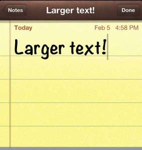 How to Increase Text Size in Notes on the iPhone 5