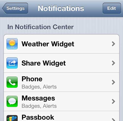 Configure the Message notifications
