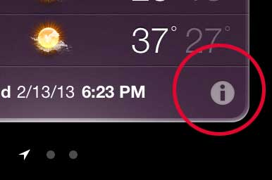 Tap the Info icon