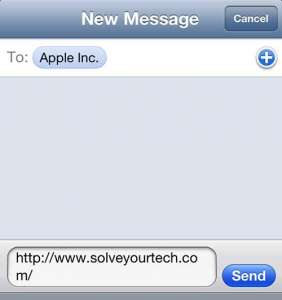 How to Text Message a Web Page Link on the iPhone 5