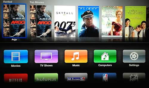 itunes on the apple tv