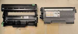 The Brother HL2270DW drum and toner