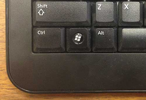 That Windows key is not a good option for using the Command action
