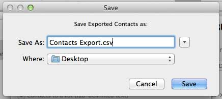 how to create a csv file from outlook contacts