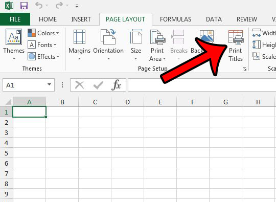 how to repeat rows at top of excel page - step 2