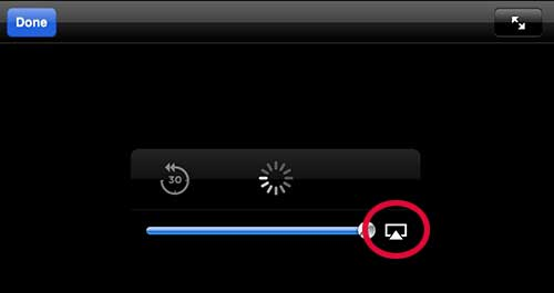 tap the airplay button