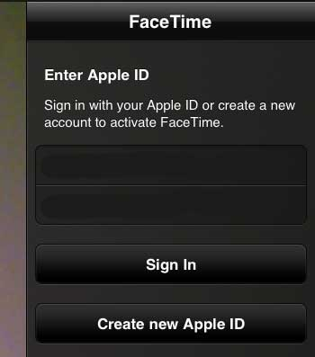 Enter your Apple ID and password, then tap the Sign In button