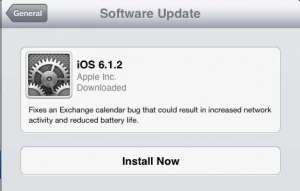 Tap the Install Now button