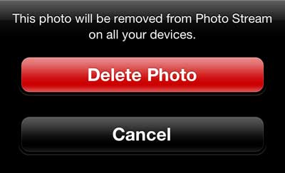 Press the Delete Photo button