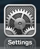 press the settings icon