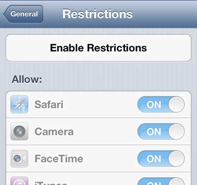 how to reset iphone cant remember restrictions password