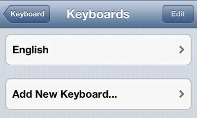 Add a new keyboard