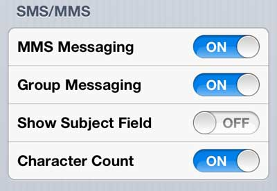 enable mms messaging on the iphone 5