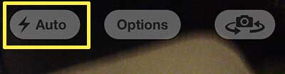 toggle the iphone 5 camera flash option