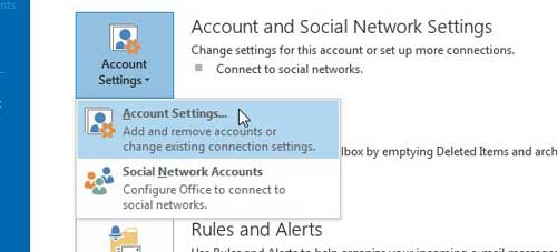 click account settings