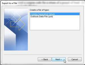 How to Export Outlook 2013 Contacts to Excel