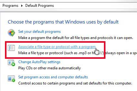 associate a file type or protocol with a program