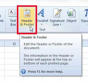 make the header bigger in excel 2010