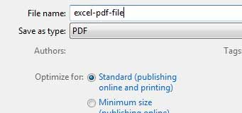 enter a name for the PDF file