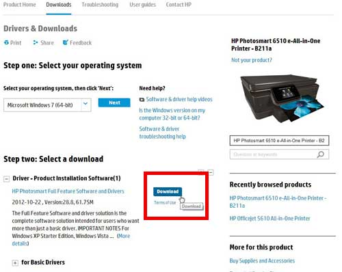 download the officejet 6510 driver if you don't have the disc
