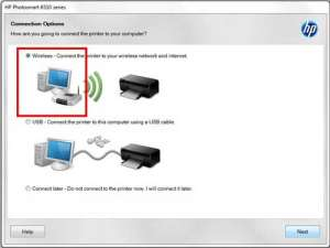 select the wireless option