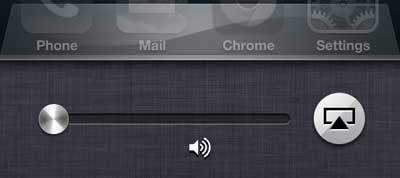 navigate to the screen with the airplay button
