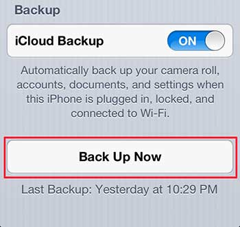 how to backup to icloud on the iphone 5