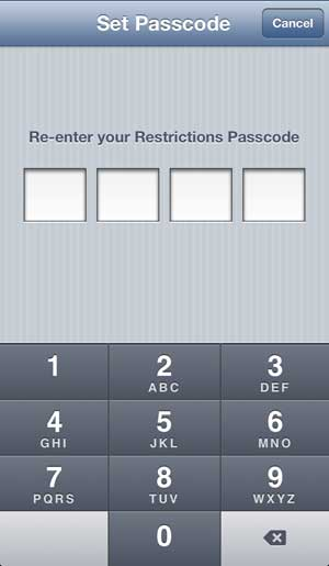 re-enter the passcode