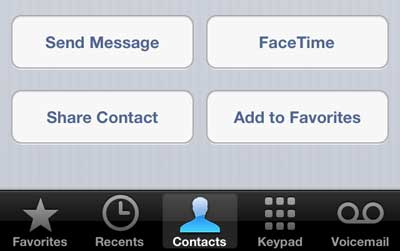 how to email contact info on the iphone 5