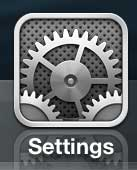 open the iphone 5 settings menu