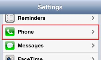 open the iphone 5 phone menu