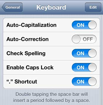 make sure that the enable caps lock option is on
