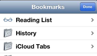 view your safari history on the iphone 5