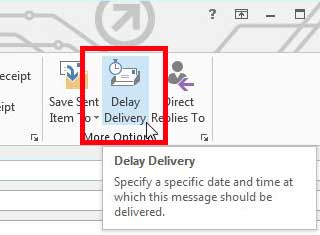 select the Delay Delivery option