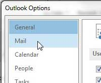 click mail in the left column