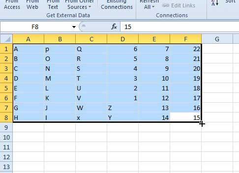 select and copy your data in excel
