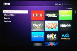 roku 3 home menu
