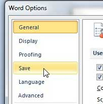 how to change the default save location in word 2010